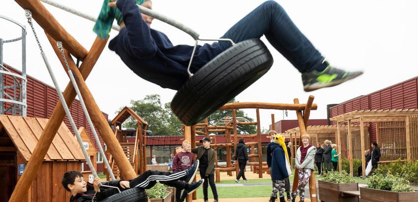 Gynger på legeplads